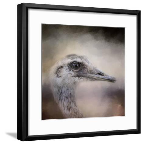 Poised Ostrich-Jai Johnson-Framed Art Print