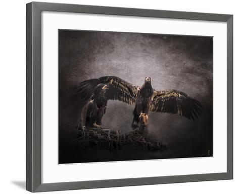 The Protector Juvenile Bald Eagles-Jai Johnson-Framed Art Print