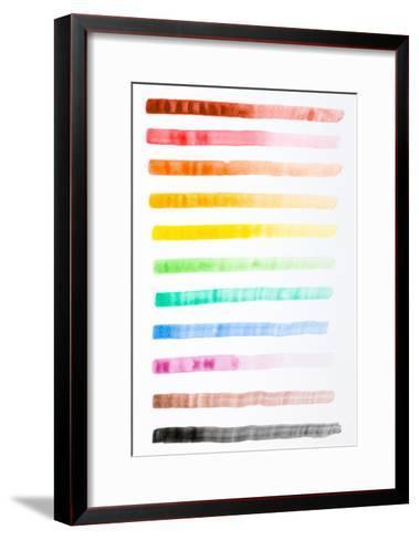 Colorful Brush Strokes Handmade-fify-Framed Art Print