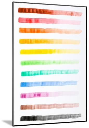 Colorful Brush Strokes Handmade-fify-Mounted Art Print