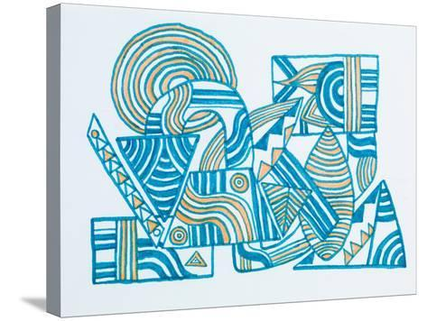 Abstract Illustration-fify-Stretched Canvas Print