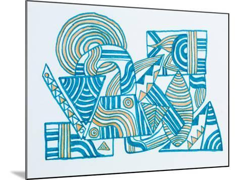 Abstract Illustration-fify-Mounted Art Print