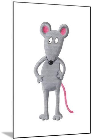 Funny Grey Mouse-andreapetrlik-Mounted Art Print