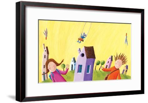 Kids Going to School-andreapetrlik-Framed Art Print