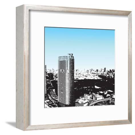 Grunge Style Skyscrapers-JENNY SOLOMON-Framed Art Print
