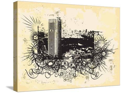 Tokyo-JENNY SOLOMON-Stretched Canvas Print