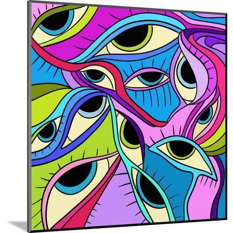 Abstract Eyes-goccedicolore-Mounted Art Print