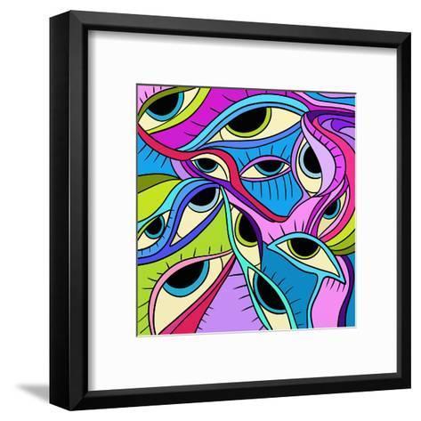 Abstract Eyes-goccedicolore-Framed Art Print