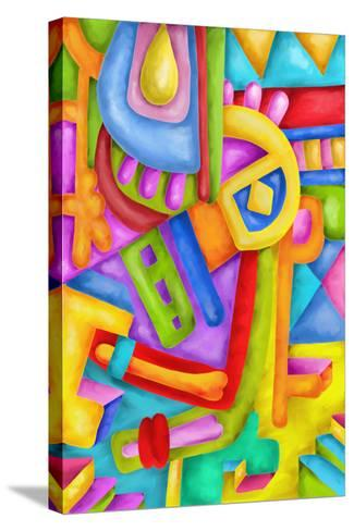 Abstract with Colorful Shapes-goccedicolore-Stretched Canvas Print