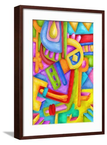 Abstract with Colorful Shapes-goccedicolore-Framed Art Print