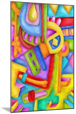 Abstract with Colorful Shapes-goccedicolore-Mounted Art Print