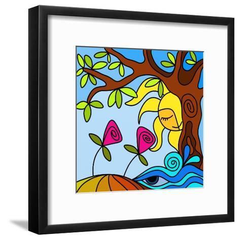 Due Fiori-goccedicolore-Framed Art Print