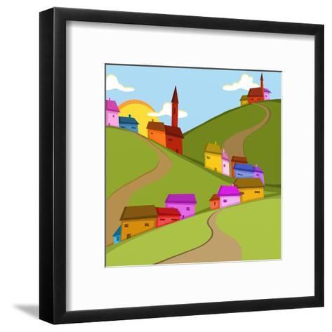 Case in Collina-goccedicolore-Framed Art Print