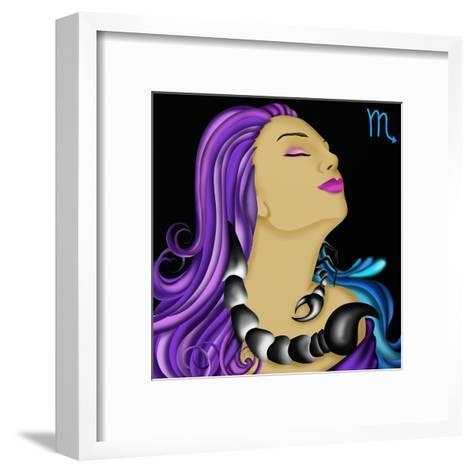 Segni Zodiacali - Scorpione-goccedicolore-Framed Art Print