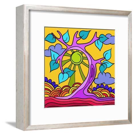 Pink Tree-goccedicolore-Framed Art Print