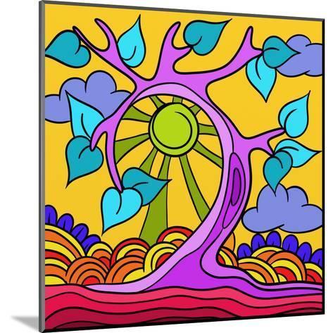 Pink Tree-goccedicolore-Mounted Art Print