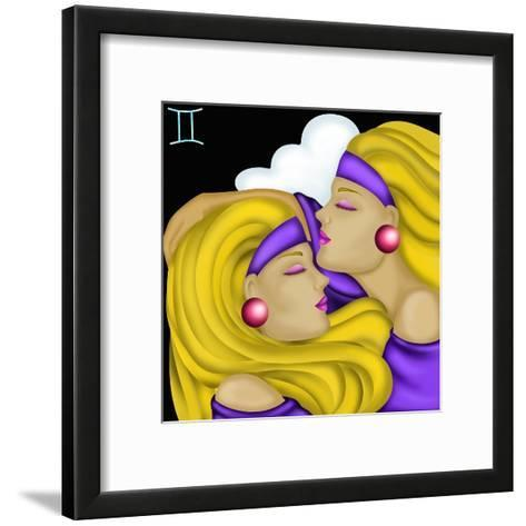 Segni Zodiacali - Gemelli-goccedicolore-Framed Art Print