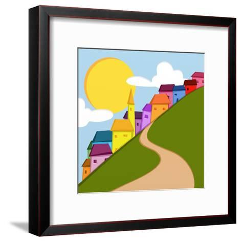 Paesino in Montagna-goccedicolore-Framed Art Print