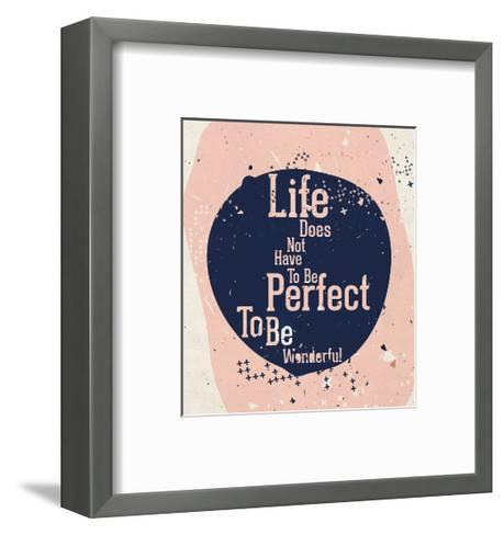 Modern Motivational Poster with Quote-Vanzyst-Framed Art Print