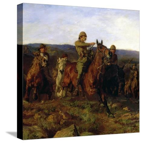 In Sight - Lord Dundonald's Dash on Ladysmith, 1900 (Detail of 17136)-Lucy Kemp-Welch-Stretched Canvas Print