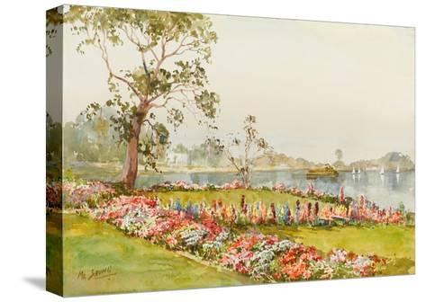 View of Inya Lake, Yangon, 1940s-Saya Saung-Stretched Canvas Print