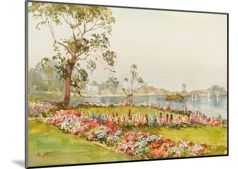 View of Inya Lake, Yangon, 1940s-Saya Saung-Mounted Giclee Print