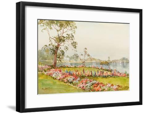 View of Inya Lake, Yangon, 1940s-Saya Saung-Framed Art Print