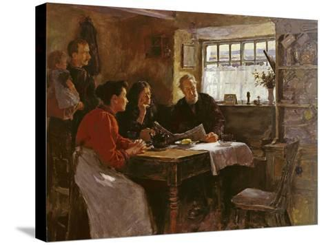 The 22nd January 1901 (Reading the News of the Queen's Death in a Cornish Cottage)-Stanhope Alexander Forbes-Stretched Canvas Print