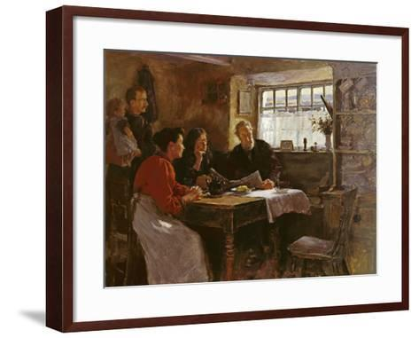 The 22nd January 1901 (Reading the News of the Queen's Death in a Cornish Cottage)-Stanhope Alexander Forbes-Framed Art Print