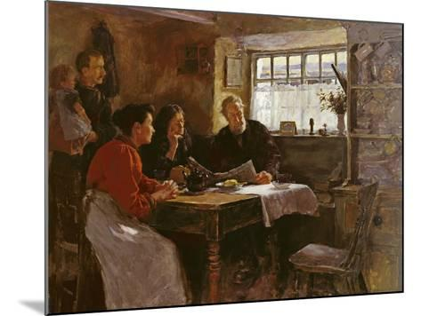 The 22nd January 1901 (Reading the News of the Queen's Death in a Cornish Cottage)-Stanhope Alexander Forbes-Mounted Giclee Print