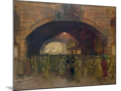 Victoria Station, Troops Leaving for the Front-Walter Bayes-Mounted Giclee Print
