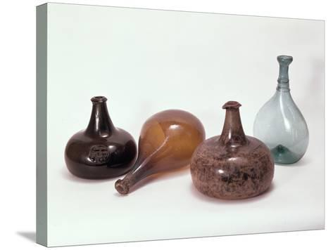 Collection of Wine Bottles--Stretched Canvas Print