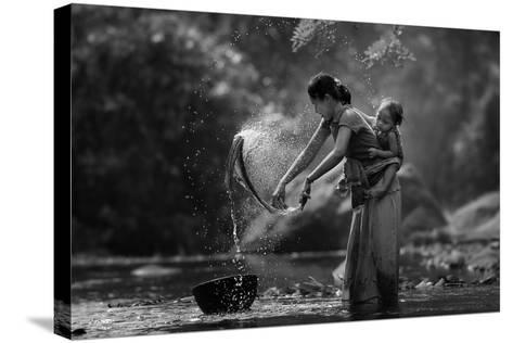 Laundry- Asit-Stretched Canvas Print