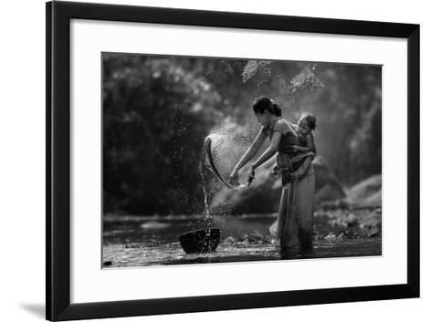 Laundry- Asit-Framed Art Print