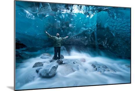 Self Portrait under a Glacier-Jonathan Tucker-Mounted Photographic Print