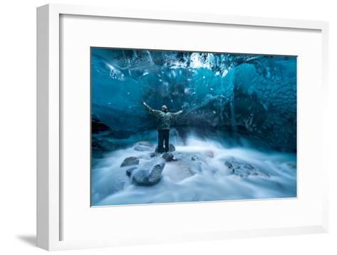 Self Portrait under a Glacier-Jonathan Tucker-Framed Art Print