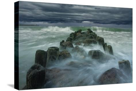 Breakwater-Dmitry Kulagin-Stretched Canvas Print