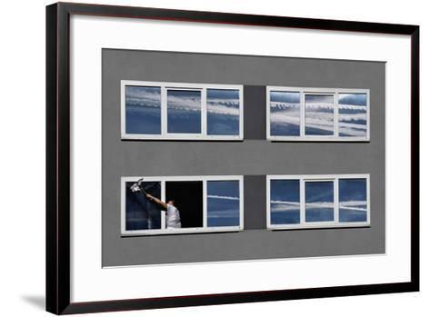 Again This Damn Airplanes-Darko Cuder-Framed Art Print