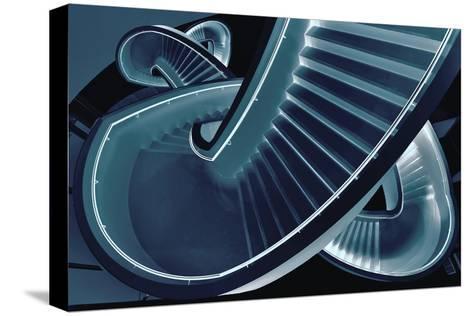 Blue Stair-Henk Van-Stretched Canvas Print
