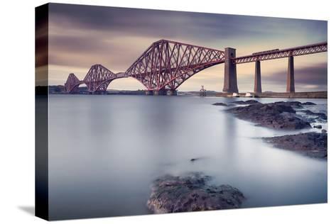 Forth Rail Bridge-Martin Vlasko-Stretched Canvas Print