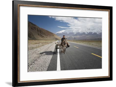 By Donkey on the Karakorum Highway- Reggy-Framed Art Print
