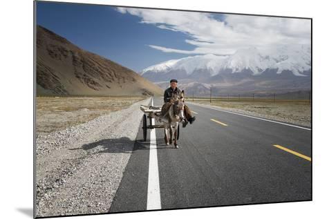 By Donkey on the Karakorum Highway- Reggy-Mounted Photographic Print