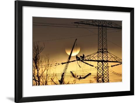 To Polish the Sun-P R-Framed Art Print