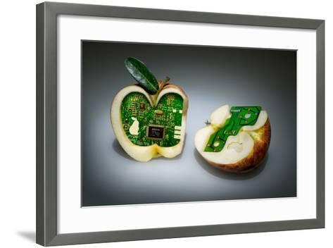 Apple Core- Kikroune-Framed Art Print