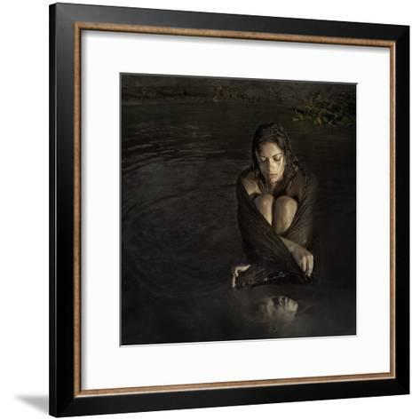 The Widow-Istvan Kadar-Framed Art Print