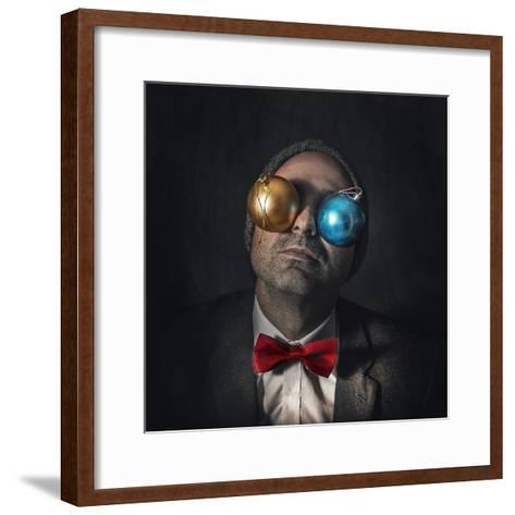 Christmas Blindness...-Marcos Gali-Framed Art Print