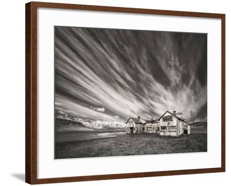 Old Hospital (Mono)-Thorsteinn H.-Framed Art Print