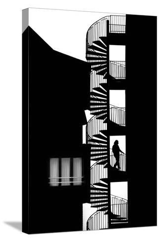 Silhouette-Massimo Della-Stretched Canvas Print