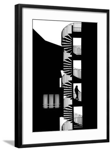 Silhouette-Massimo Della-Framed Art Print