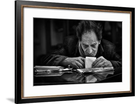 A Little Secret...-Antonio Grambone-Framed Art Print